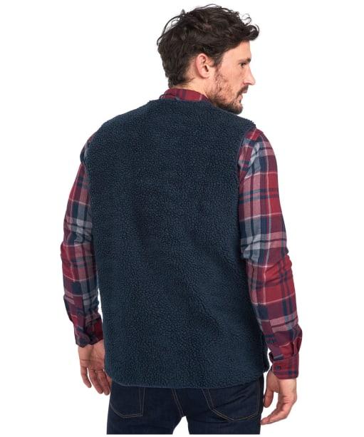 Men's Barbour Berber Fleece Liner - Navy