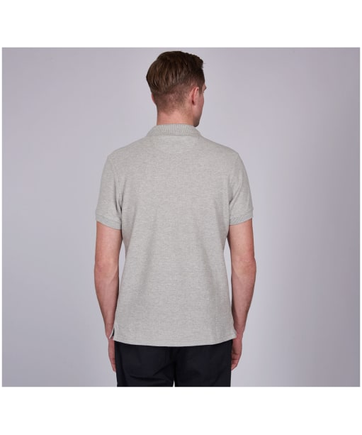Men's Barbour International Steve McQueen Chad Polo Shirt - Grey Marl