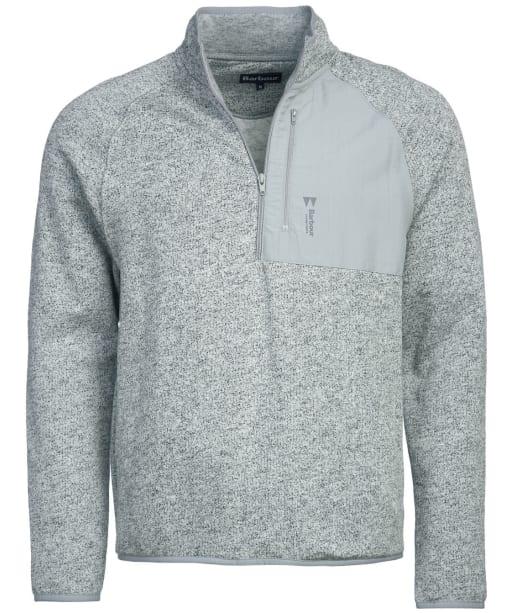 Men's Barbour Liam Half Zip Sweater - Grey Marl