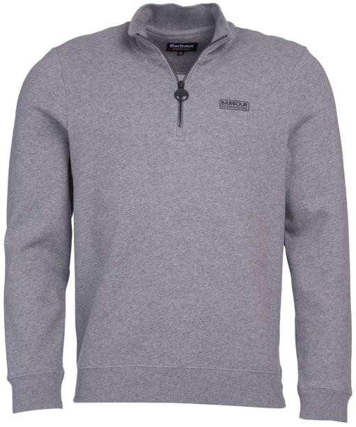 Men's Barbour International Essential Half Zip Sweater - Anthracite Marl