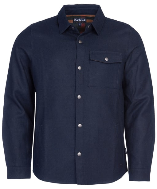 Men's Barbour Swaledale Overshirt - Navy