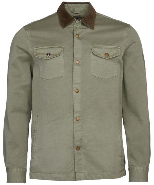 Men's Barbour International Steve McQueen Aken Overshirt - Dusty Olive