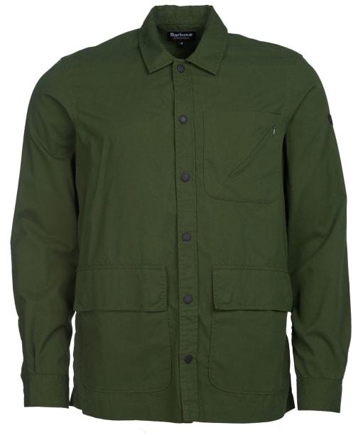 Men's Barbour International Tech Overshirt - Strong Olive