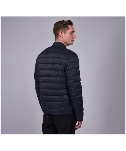 Men's Barbour International Seasons Baffle Quilted Jacket - Black