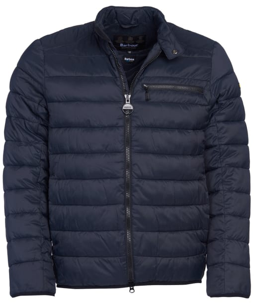 Men's Barbour International Seasons Baffle Quilted Jacket - Black