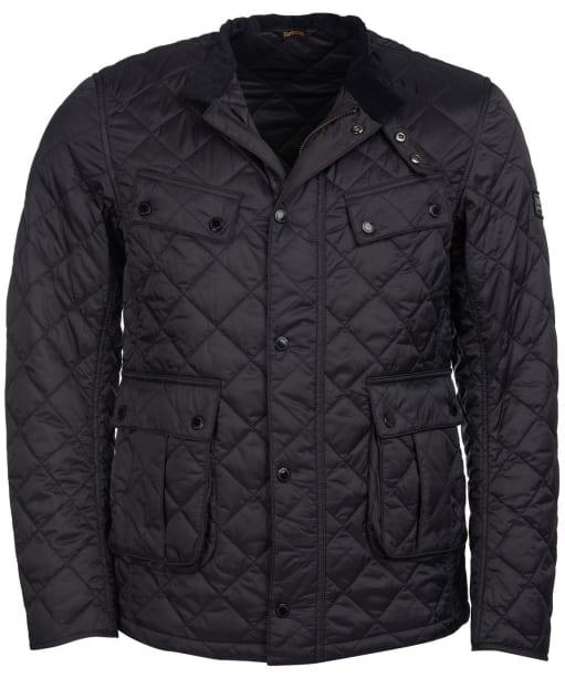 Men's Barbour International Coloured Ariel Quilted Jacket - Black