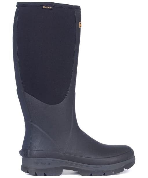 Men's Barbour Cyclone Neoprene Wellington Boots - Black