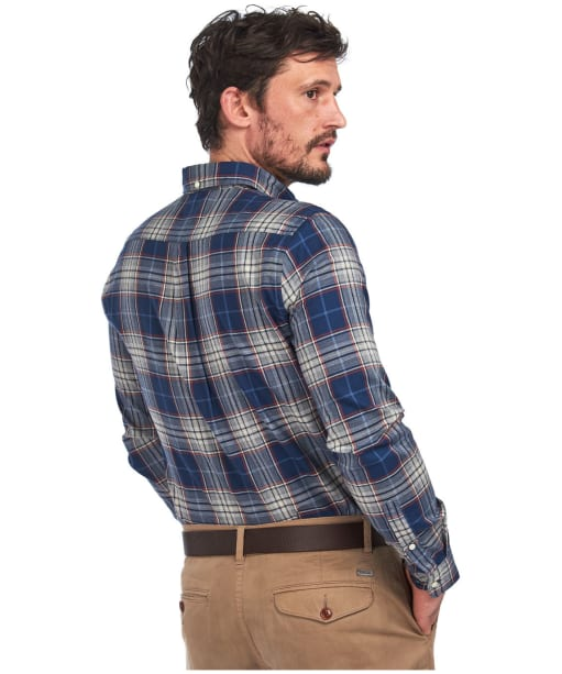 Men's Barbour Highland Check 10 Tailored Shirt - Navy Check