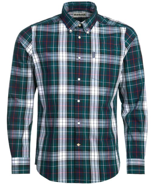 Men's Barbour Highland Check 9 Tailored Shirt - White Check