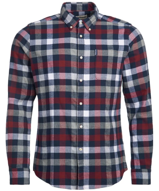 Men's Barbour Country Check 5 Tailored Shirt - Crimson Check