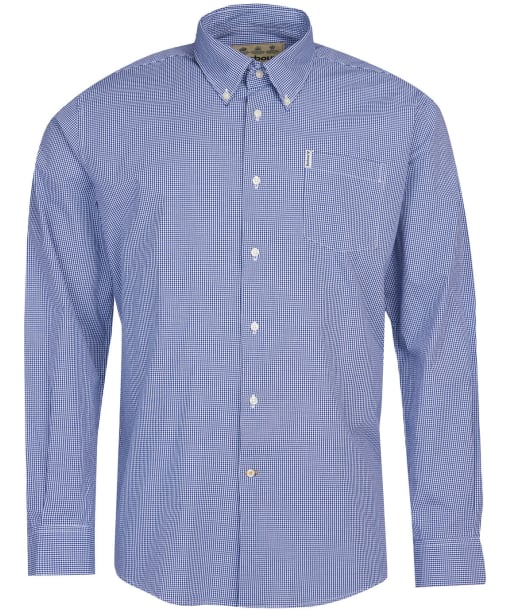 Men's Barbour Gingham 10 Regular Shirt - Inky Blue