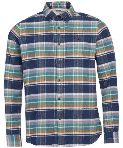 Men's Barbour International Steve McQueen Rocky Check Shirt - Navy Check