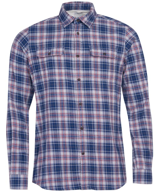 Men's Barbour International Steve McQueen Henri Check Shirt - Navy Check