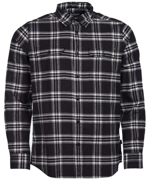 Men's Barbour International Bold Line Check Shirt - Black Check