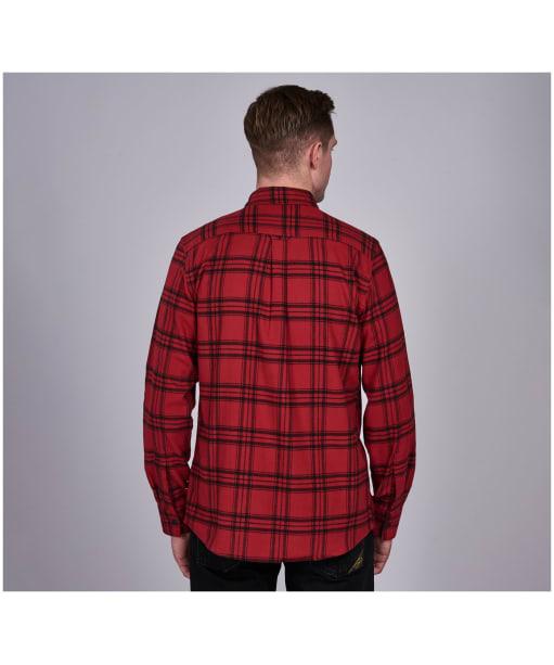 Men's Barbour International Bold Line Check Shirt - Crimson Check