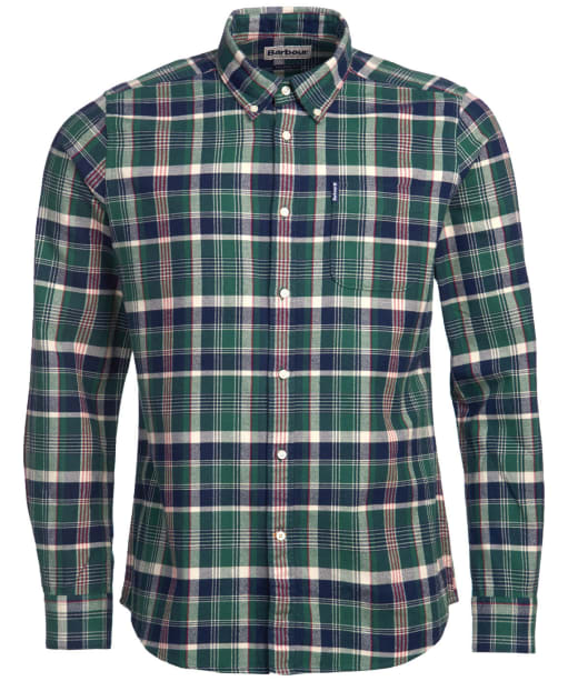 Men's Barbour Highland Check 31 Tailored Shirt - Green Check