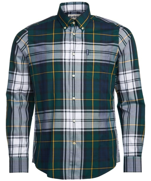 Men's Barbour Highland Check 33 Tailored Shirt - Green Check