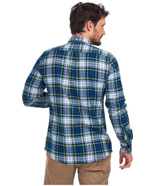 Men's Barbour Highland Check 34 Tailored Shirt - Bright Blue Check