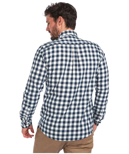Men's Barbour Gingham 21 Tailored Shirt - Navy Check