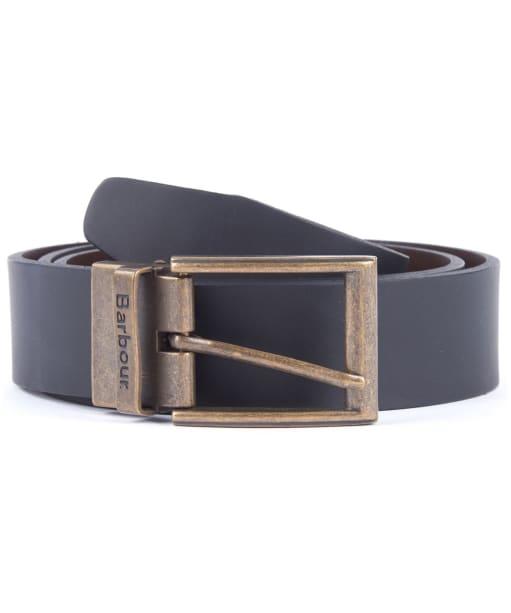 Men's Barbour Reversible Leather Belt Gift Box - Black