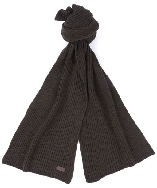 Barbour Plain Carlton Wool Scarf - Dark Green