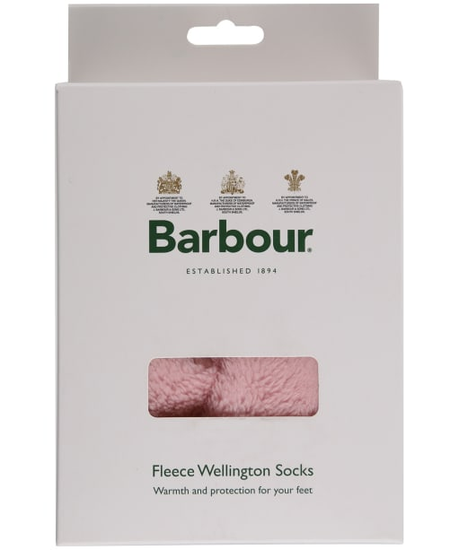 Women's Barbour Wilton Fleece Wellington Socks - Fuchsia