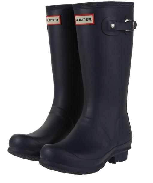 Hunter Original Kids Wellington Boots, 12-5 - Navy