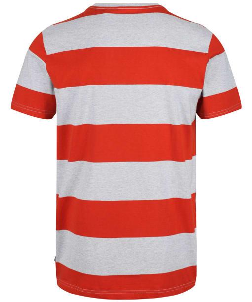 Men's Joules Boathouse Tee - Grey/Orange Stripe