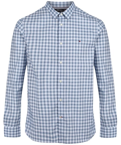 Men's Tommy Hilfiger Slim Flex Houndstooth Gingham Shirt - Blue Ink/Multi