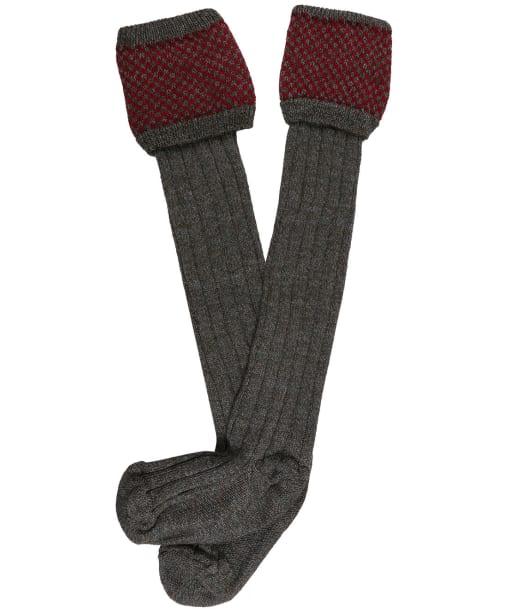 Men's Pennine Penrith Shooting Socks - Cherry