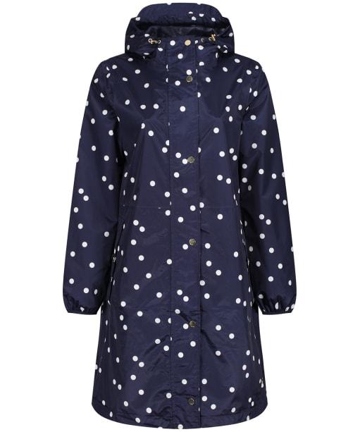 Women's Joules Waybridge Waterproof Packable Raincoat - Navy Spot