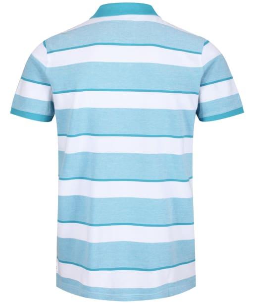 Men's Crew Clothing Oxford Polo Shirt - Navigo Bay / White
