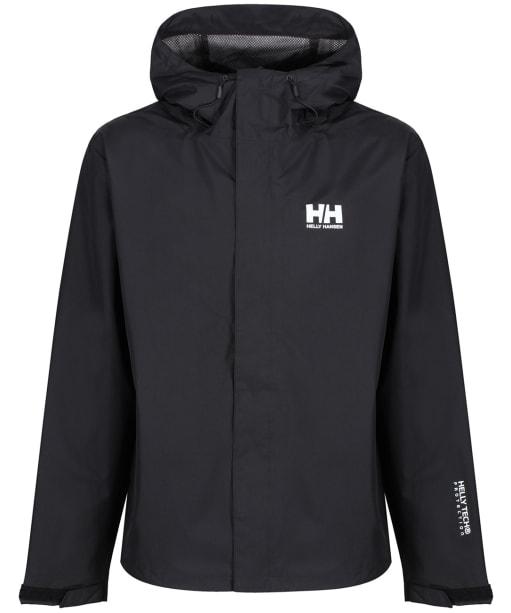Men's Helly Hansen Seven J Waterproof Jacket - Black