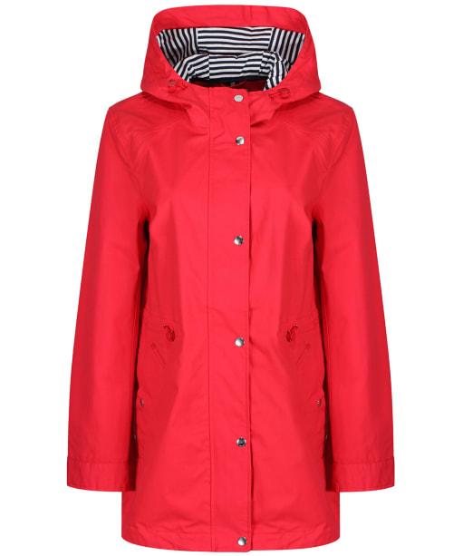 Women's Joules Shoreside Waterproof Jacket - Chilli Red