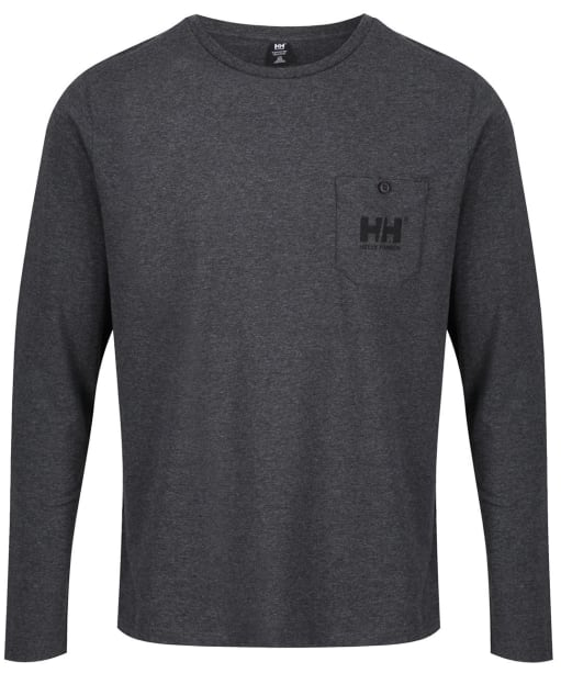 Men's Helly Hansen Fjord Long Sleeve T-shirt - Ebony Melange
