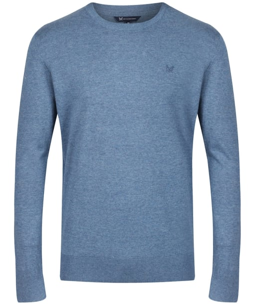 Men's Crew Clothing Holywell Heathered Crew Sweater - Chambray Marl