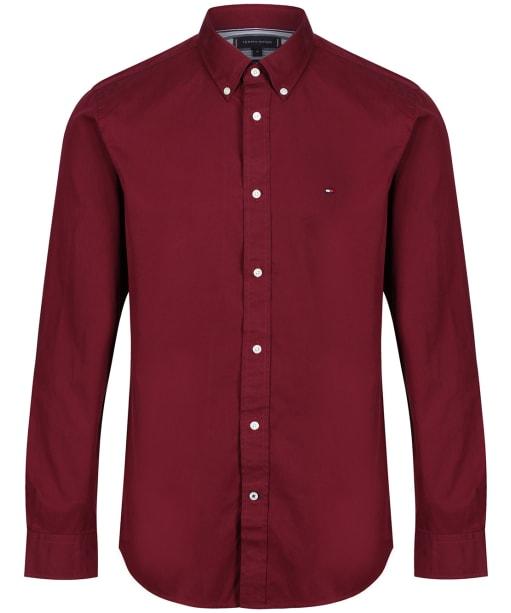 Men's Tommy Hilfiger Fine Twill Shirt - Deep Rouge