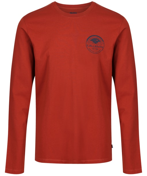 Men's Fjallraven Nature Badge L/S T-Shirt - Autumn Leaf