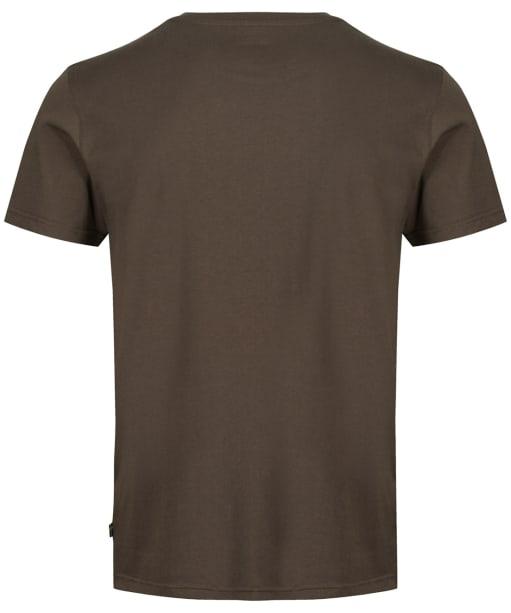 Men's Fjallraven Logo T-Shirt - Dark Olive