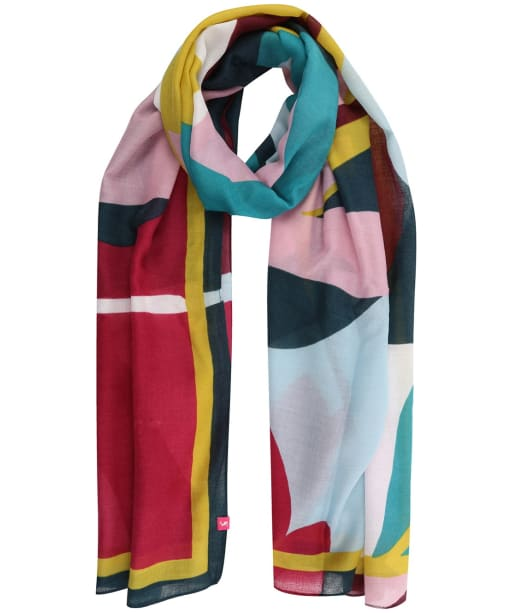 Women's Joules Isla Scarf - Leaf Abstract