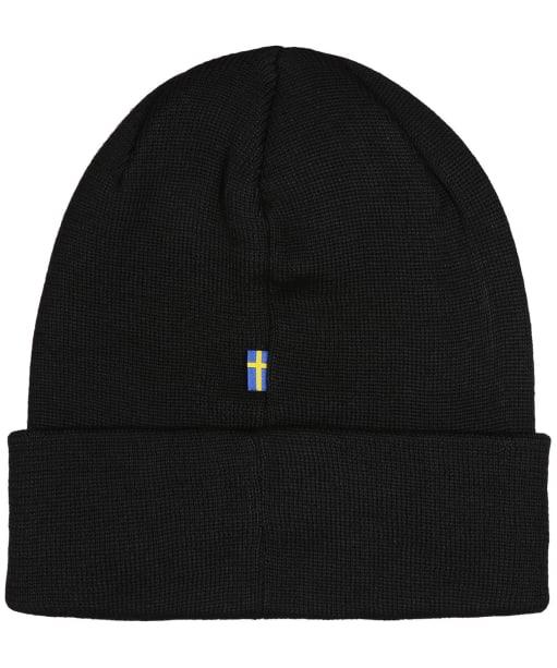Men's Fjallraven Vardag Classic Beanie Hat - Black