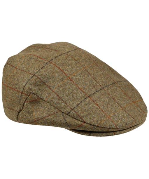 Men's Alan Paine Combrook Waterproof Tweed Flat Cap - Elm