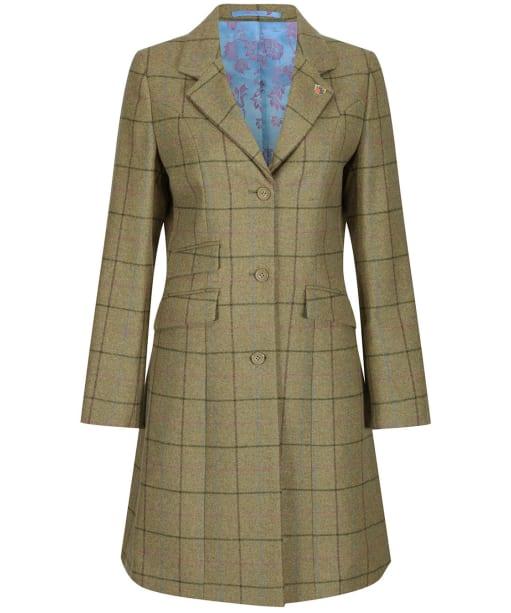 Women's Alan Paine Combrook Tweed Mid Length Coat - Lotus