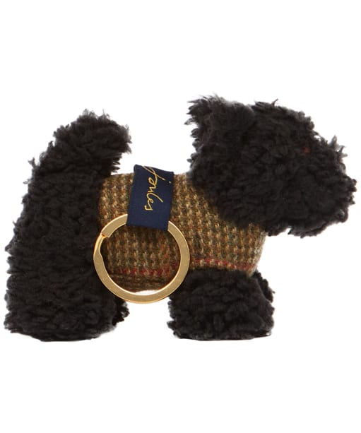 Joules Tweedle Keyring - Black Scottie Dog