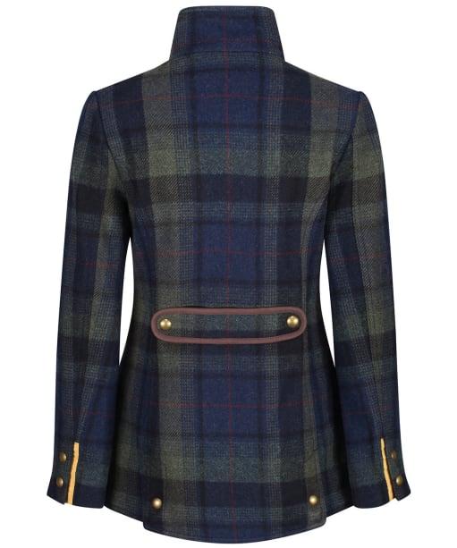 Women's Joules Fieldcoat Tweed Jacket - Green/Blue Tweed