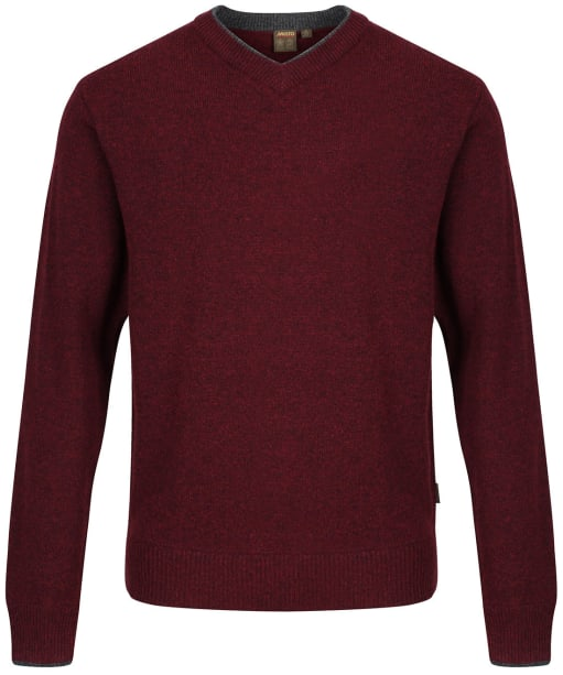 Men's Musto Country V-Neck Knit - Oxblood