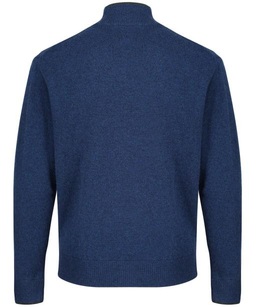 Men's Musto Country Zip Neck Knit - Dark Cobalt Blue