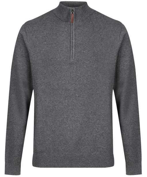 Men's Schoffel Cotton ¼ Zip Jumper - Castle Grey