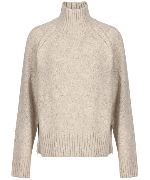 Women's GANT Neps Cable Turtleneck Sweater - Manila Melange