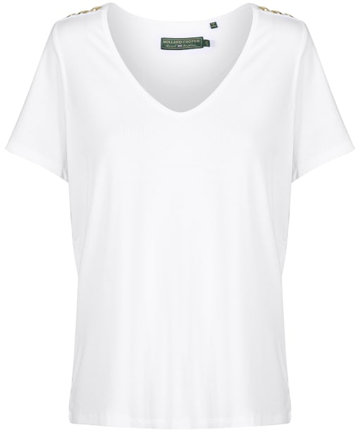 Women's Holland Cooper Vee Neck Tee - White